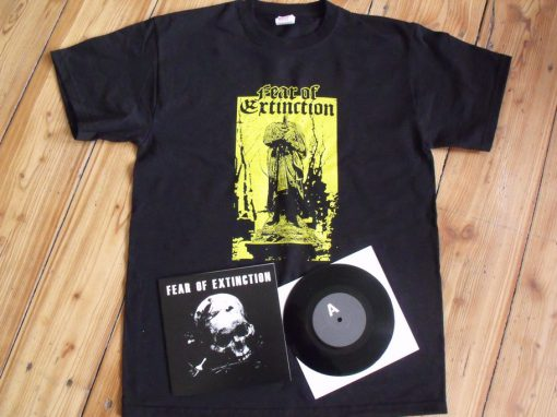 SPC002 FEAR OF EXTINCTION - s/t EP + t-shirt