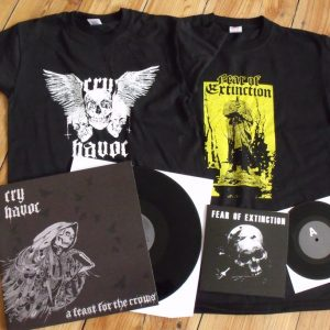 SPC003 CRY HAVOC - A feast for the crows LP / t-shirt + FEAR OF EXTINCTION - s/t EP / t-shirt