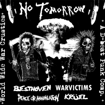 V/A NO TOMORROW - 4 way split LP w/ WARVICTIMS