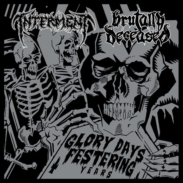 INTERMENT / BRUTALLY DECEASED split LP