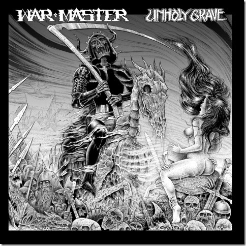 WAR MASTER / UNHOLY GRAVE split LP