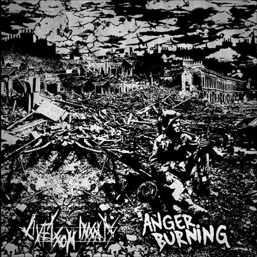 ANGER BURNING / LIVET SOM INSAT split EP