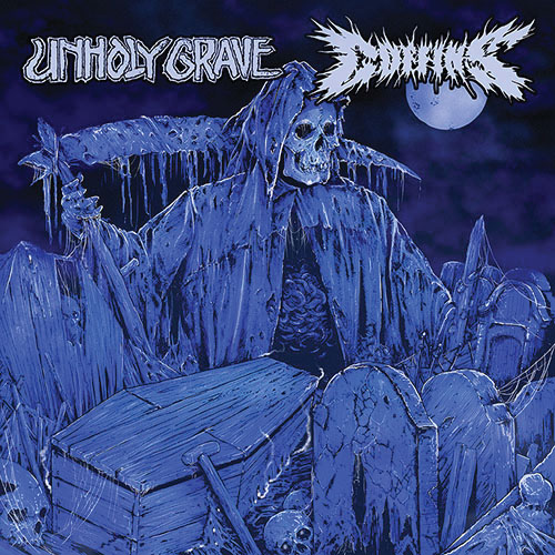 UNHOLY GRAVE / COFFINS split 10LP""