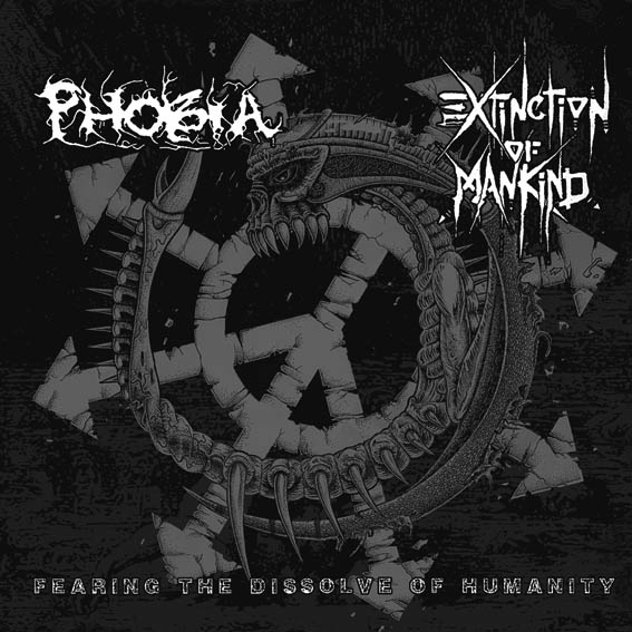 PHOBIA / EXCTINCTION OF MANKIND split LP