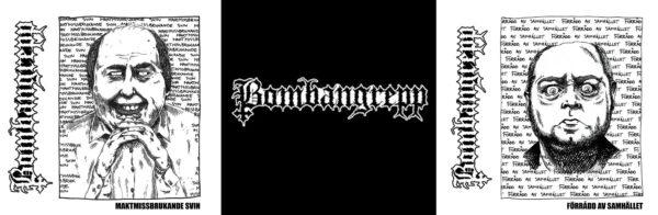 """BOMBANGREPP 2x7EP set plus nášivka - Förrådd Av Samhället + Maktmissbrukande Svin"""""""