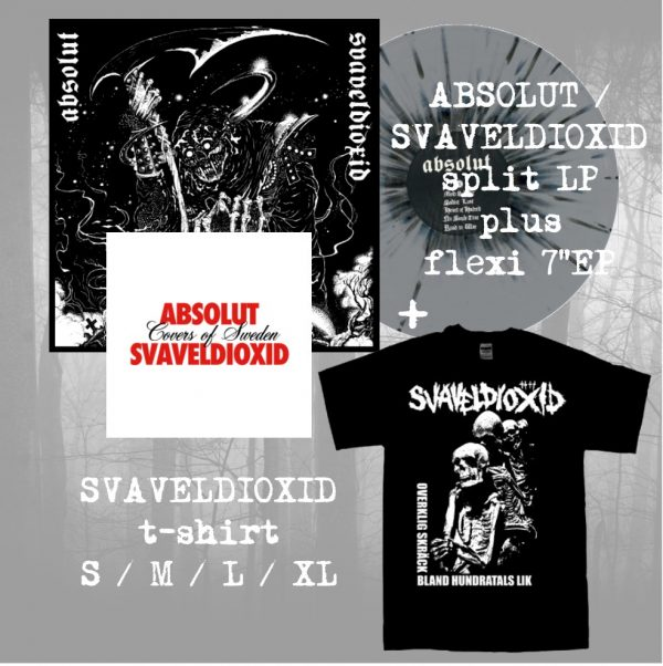 PR 137 ABSOLUT / SVAVELDIOXID limited split LP & t-shirt bundle