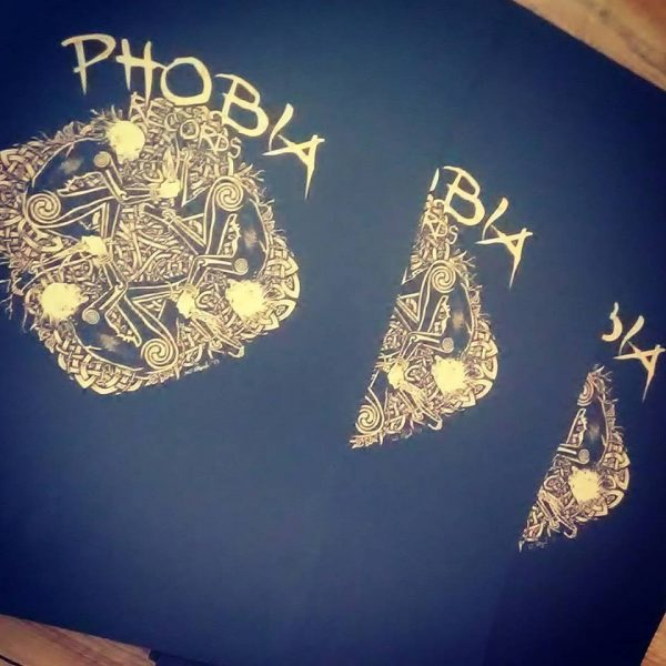 Phobia Records - sítotiskový plakát - artwork by Sean Fitzgerald