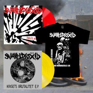 SVAVELDIOXID - Ändlös Mardröm LP + Krigets Brutalitet EP + triko