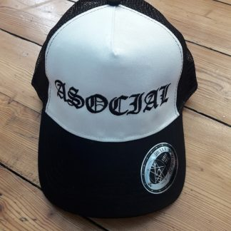 ASOCIAL - trucker - white / black