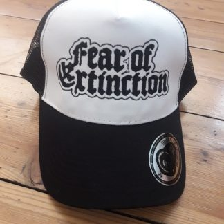 FEAR OF EXTINCTION - trucker - white / black