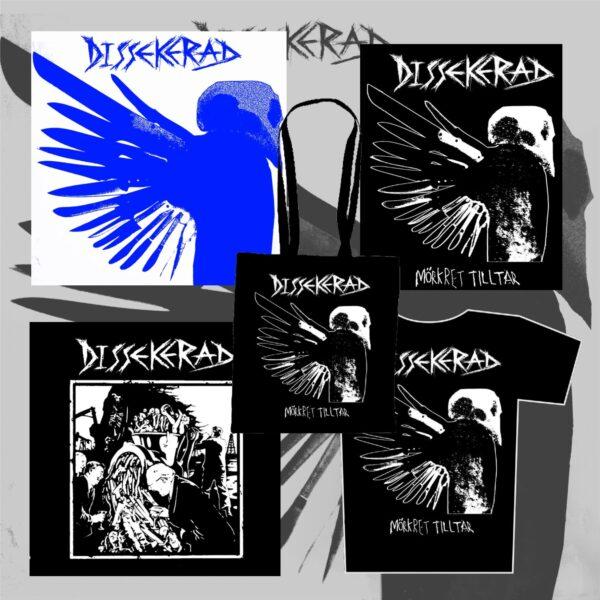 "DISSEKERAD - starter pack"" - LP & 7""EP & triko & zádovka & taška"""