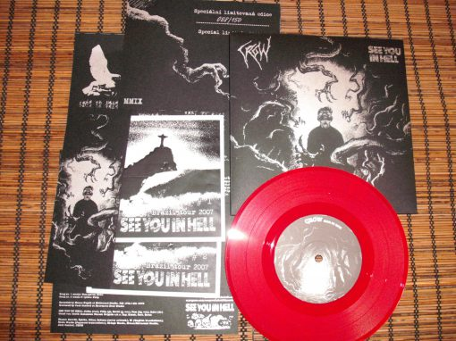 PR 052 CROW / SEE YOU IN HELL split EP limitovaná edice