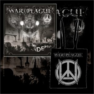 WAR//PLAGUE - Into The Depths LP + taška / vinyl bag