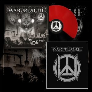 WAR//PLAGUE - Into The Depths LP (limit) + zádovka / backpatch