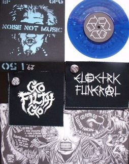 PR 056 ELECTRIC FUNERAL / GO FILTH GO split EP LIMITED EDITION