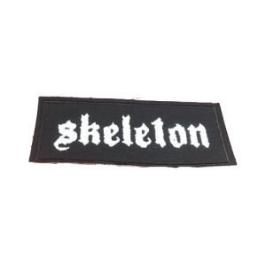 SKELETON – vyšívaná nášivka / embroidered patch