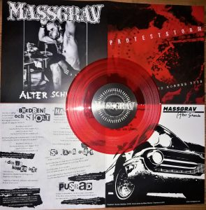 Three new titles (MASSGRAV, PROTESTSTORM, LAST AGONY A CONSTANT STATE OF TERROR) plus Bombanfall 7″EP in distro