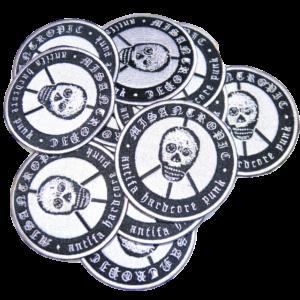 MISANTROPIC Antifa Hardcore Punk – vyšívaná nášivka / embroidered patch