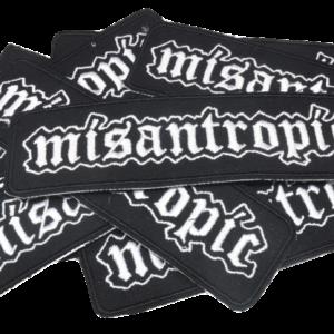 MISANTROPIC – vyšívaná nášivka / embroidered patch
