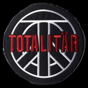 TOTALITÄR – vyšívaná zádová nášivka / embroidered backpatch (red)