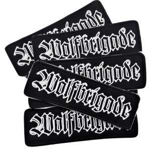 WOLFBRIGADE – vyšívaná nášivka / embroidered patch (lines)