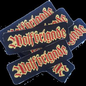WOLFBRIGADE – vyšívaná nášivka / embroidered patch (yellow / red)