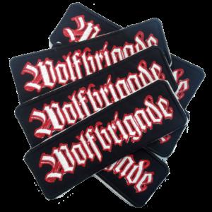 WOLFBRIGADE – vyšívaná nášivka / embroidered patch (white / red)