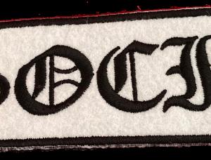 ASOCIAL – vyšívaná nášivka / embroidered patch