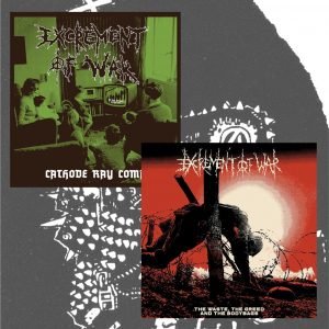 EXCREMENT OF WAR – The Waste, The Greed & The Bodybags & Cathode Ray Coma 2xLP